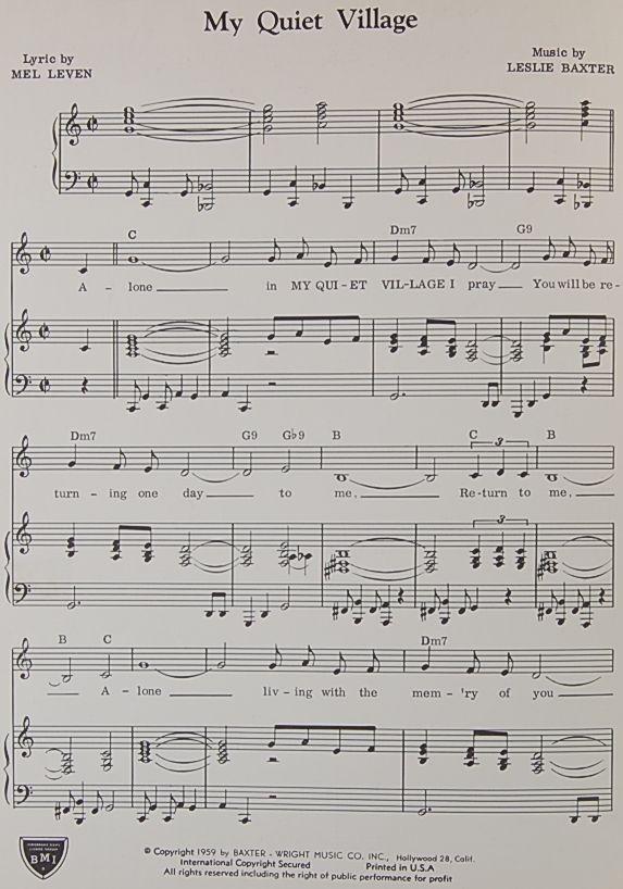 one little finger曲谱